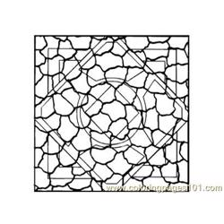 Stained Glass094 Free Coloring Page for Kids