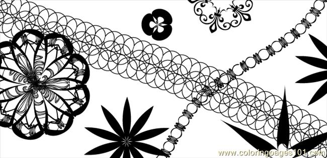 Vector Pattern Brushes No1 Coloring Page