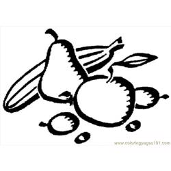 Pear 6 Free Coloring Page for Kids