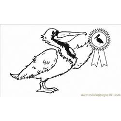 Clipart.sideviewpelicanbw