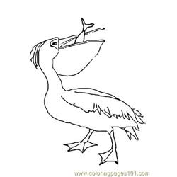 Pelican eat fish Free Coloring Page for Kids