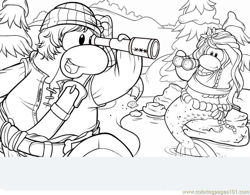 Club penguin coloring page free penguin coloring pages for Club penguin christmas coloring pages