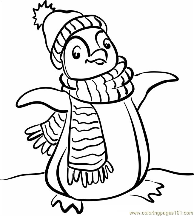 Penguin 237 Coloring Page