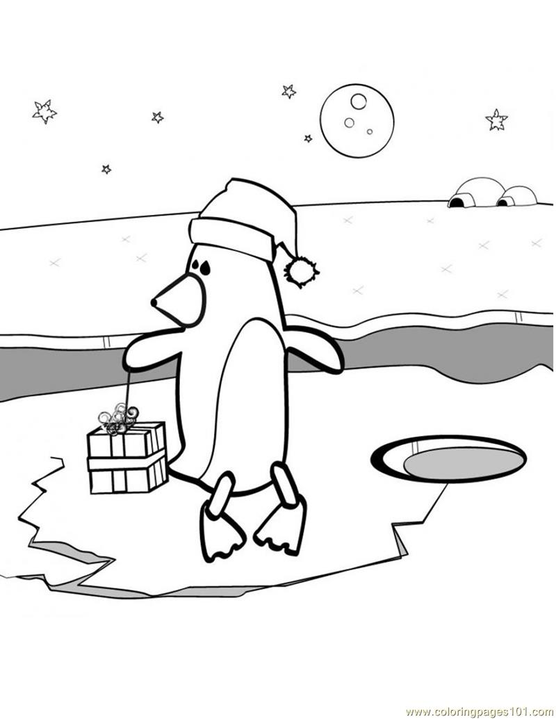 penguins ice skating coloring pages - photo#11