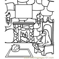 Penguin Free Coloring Page for Kids