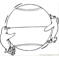 Guins Play Ball Coloring Page