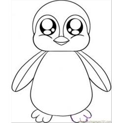 To Draw A Baby Penguin Step 4 coloring page