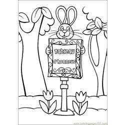 Peter Cottontail 02 coloring page
