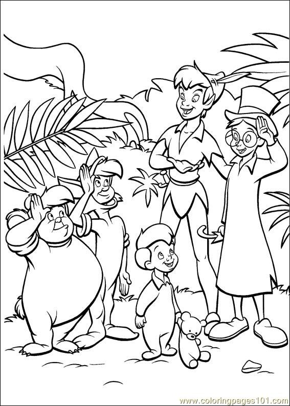 peter pan 43 coloring page