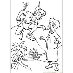 Peter Pan 23 Free Coloring Page for Kids