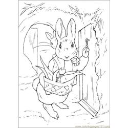 Peter Rabbit25 coloring page