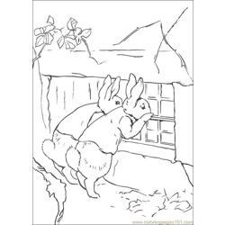 Peter Rabbit28 coloring page