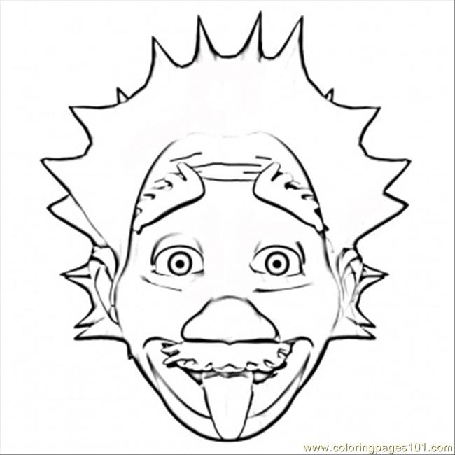 Albert Einstein Coloring Page