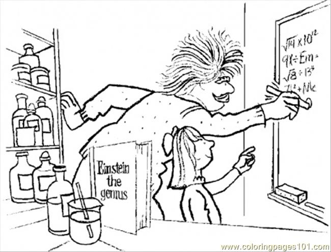 Albert Einstein The Genuis Coloring Page