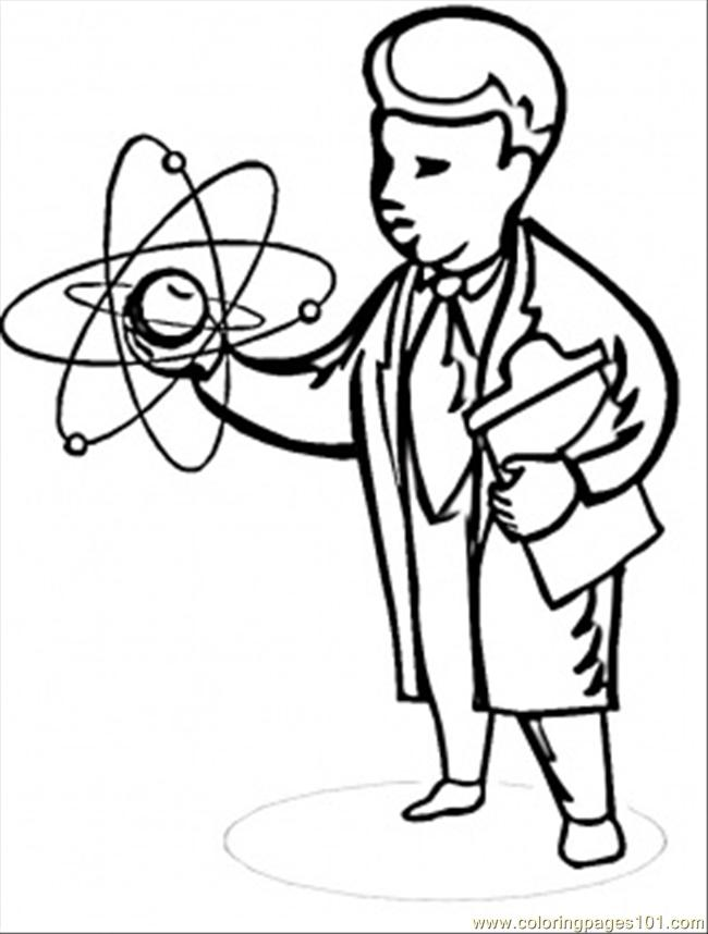 Scientist Coloring Page Free Physics Coloring Pages