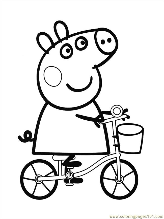 Online Colouring Pages Peppa Pig : Peppa pig coloring page free pages