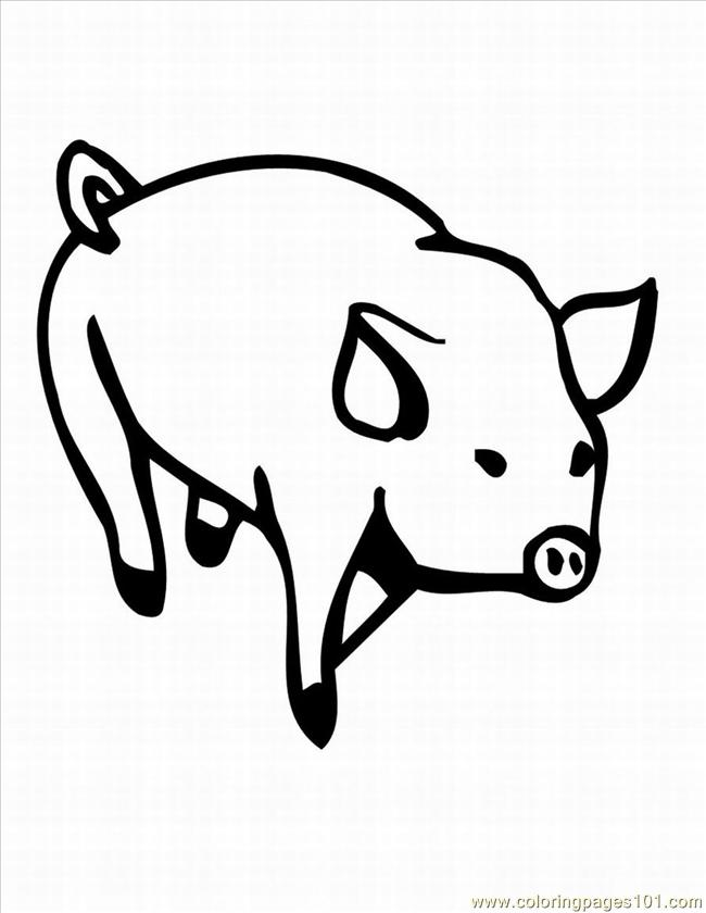 Pig Coloring Book Pages 1 Lrg Page