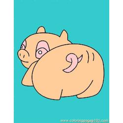 Free Pig Coloring Pages 4 Lrg