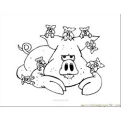 Pig Coloring Page 02
