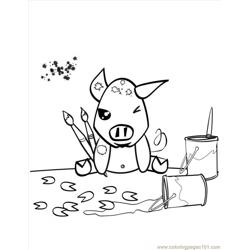 Pig Coloring Page Source P4i