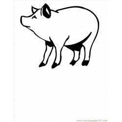 Ree Pig Coloring Pages 10 Lrg