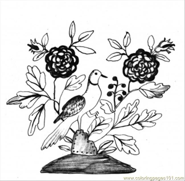 Som With A Bird Coloring Page Coloring Page