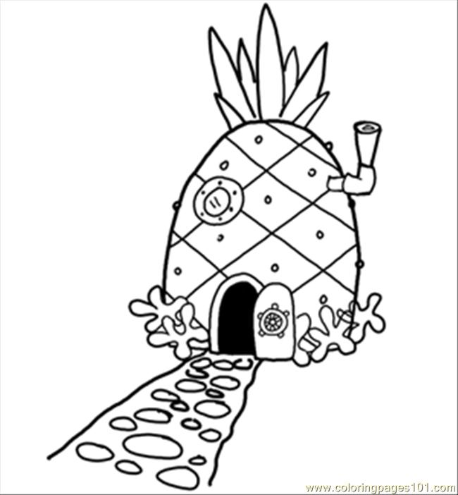 14 Pineapplehousesquare 300 Coloring Page Free Pineapples