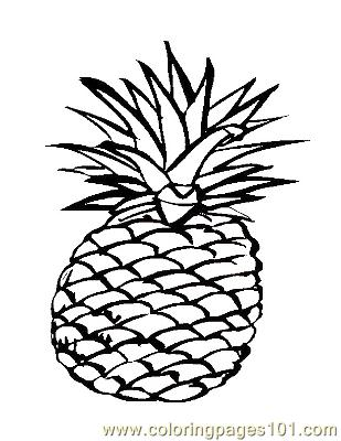 Pineappe Coloring Page