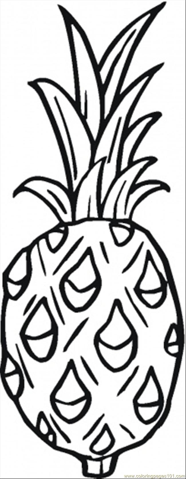 Pineapple 3 Coloring Page