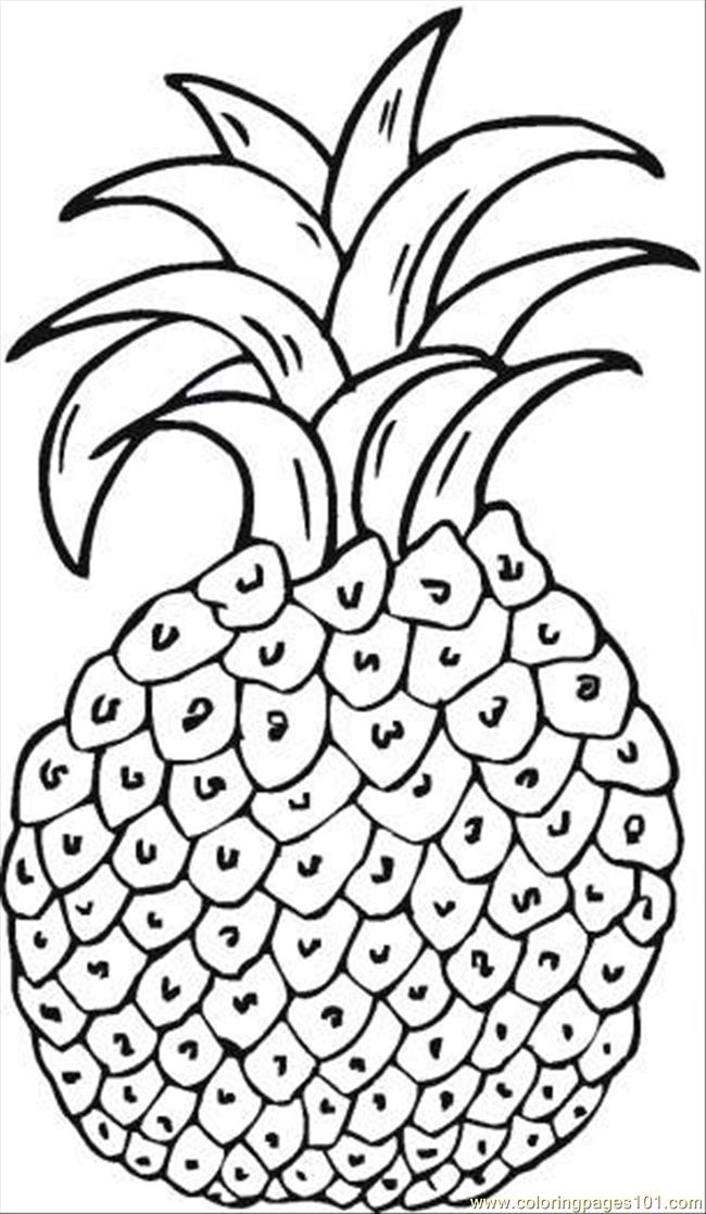 Pineapple 6 Coloring Page Free Pineapples Coloring Pages