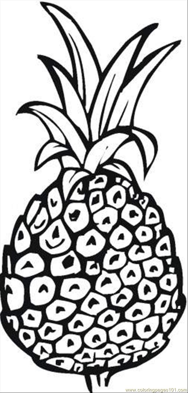 Pineapple 7 Coloring Page
