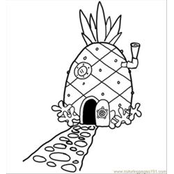 14 Pineapplehousesquare 300 coloring page