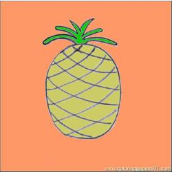 23 To Draw Pineapple5 Source C54 coloring page