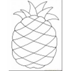 51 Thumb Pineapple coloring page
