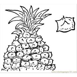 Pineapple 2 coloring page