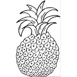 Pineapple 6 coloring page