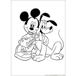 Pluto 18 Free Coloring Page for Kids