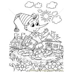 Pinocchio 3 coloring page