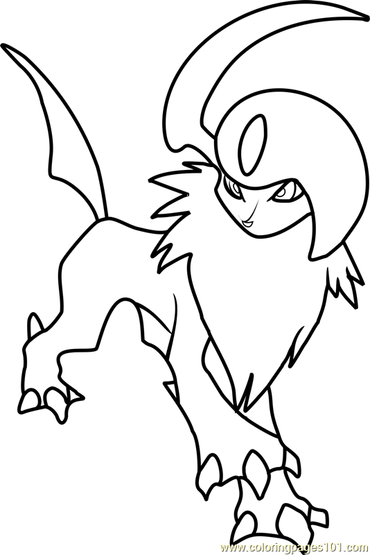 Pokemon Coloring Pages Online Absol Pokemon Coloring Page  Free Pokémon Coloring Pages .