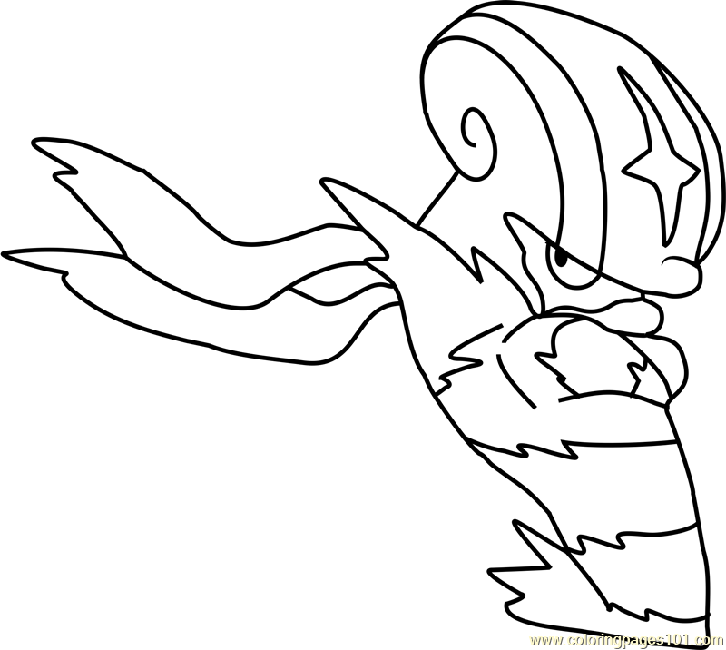 accelgor pokemon coloring page