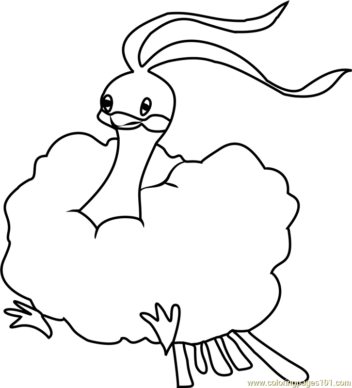 Altaria Pokemon Coloring Page Free Pokemon Coloring Pages
