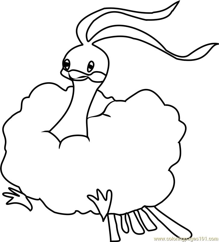 altaria pokemon coloring page