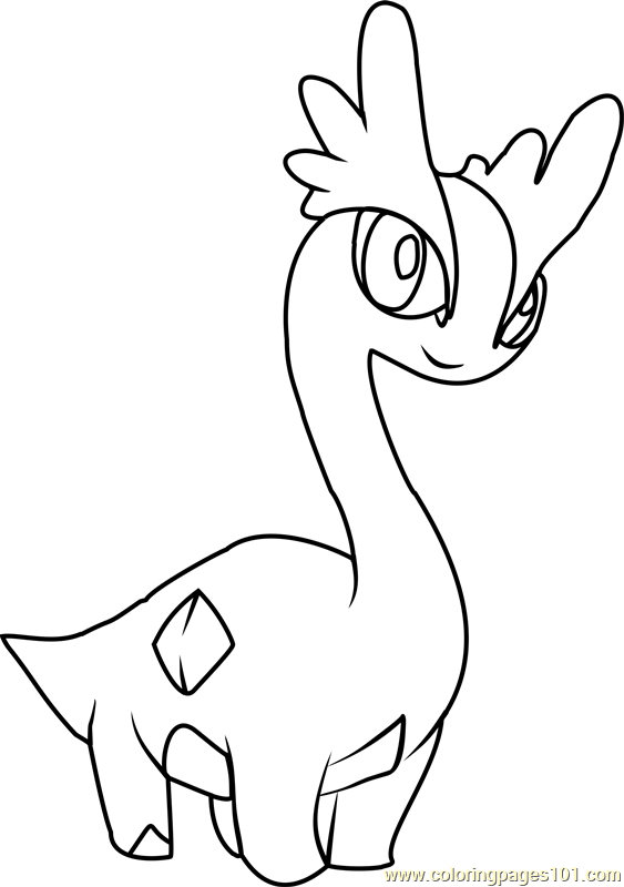 Amaura Pokemon Coloring Page
