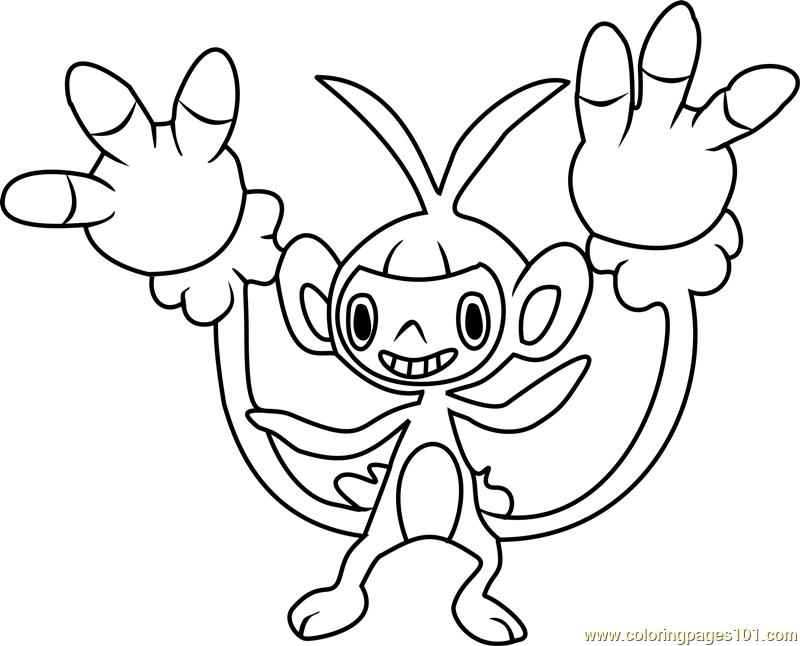 Happiny Pokemon Coloring Pages