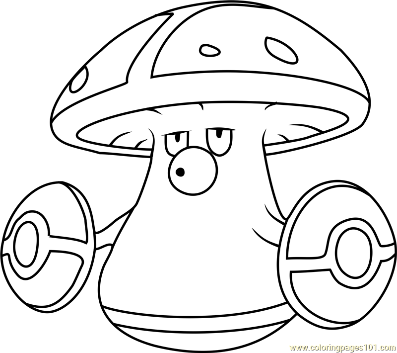 Amoonguss Pokemon Coloring Page