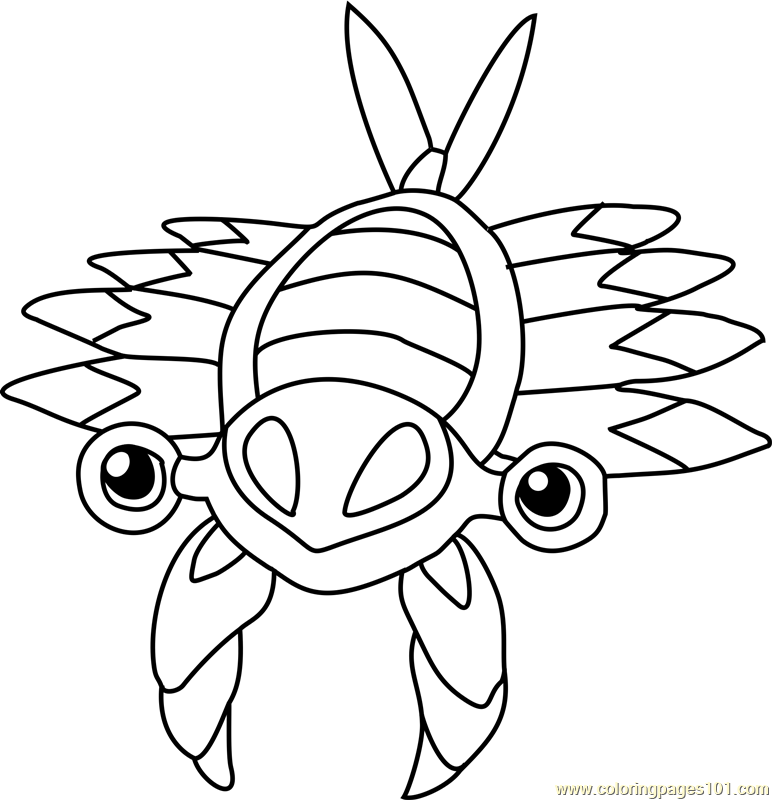 Anorith Pokemon Coloring Page
