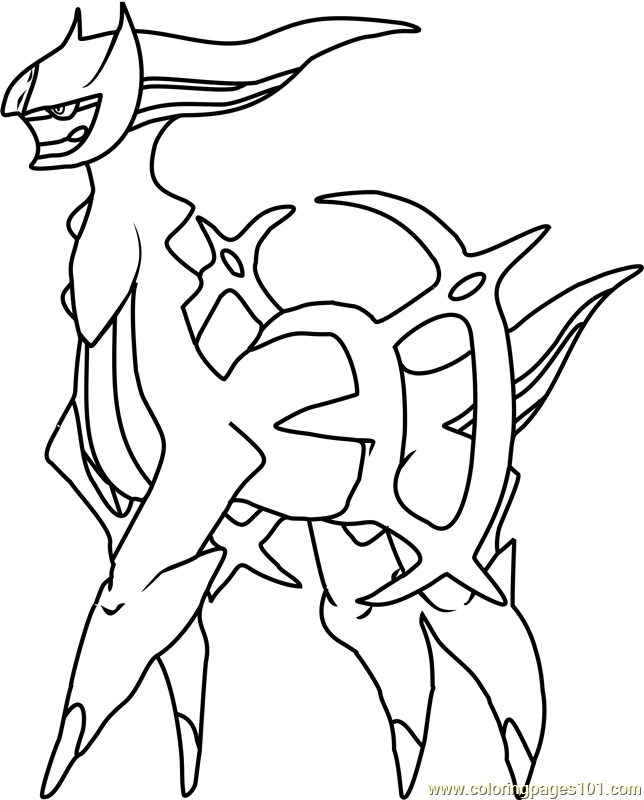 Arceus Pokemon Coloring Page - Free Pokémon Coloring Pages ...