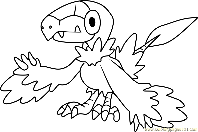 Archen Pokemon Coloring Page