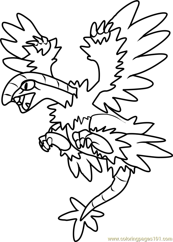 Archeops Pokemon Coloring Page Free Pok mon Coloring