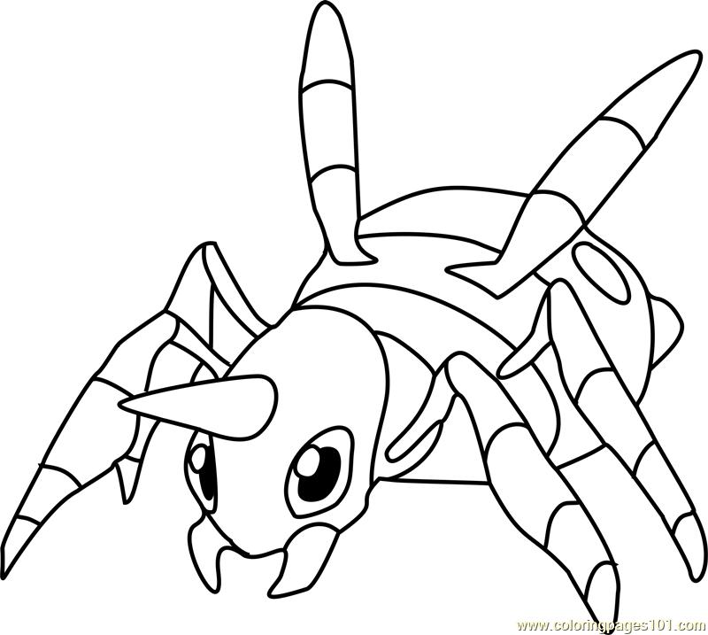 Ariados Pokemon Coloring Page Free Pokmon Coloring Pages